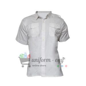 قميص امن ابيض نص كم