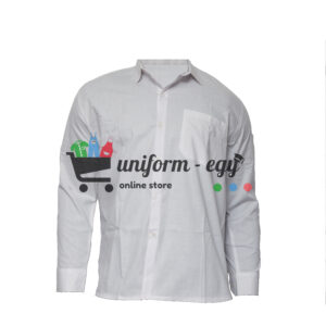 Men's white shirt with sleeves - قميص ابيض رجالى كم