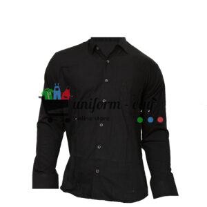 قميص اسود رجالى كم - Men's black sleeved shirt